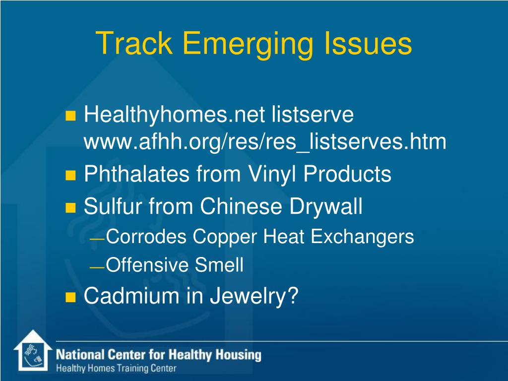 Track Emerging Issues