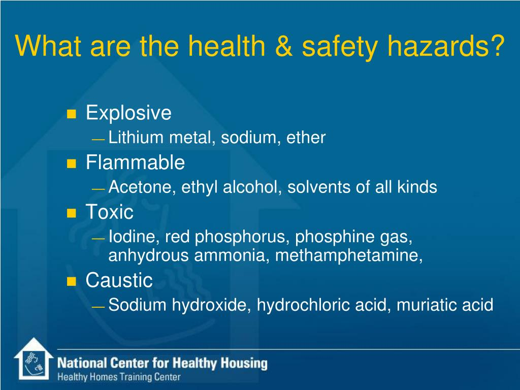 What are the health & safety hazards?