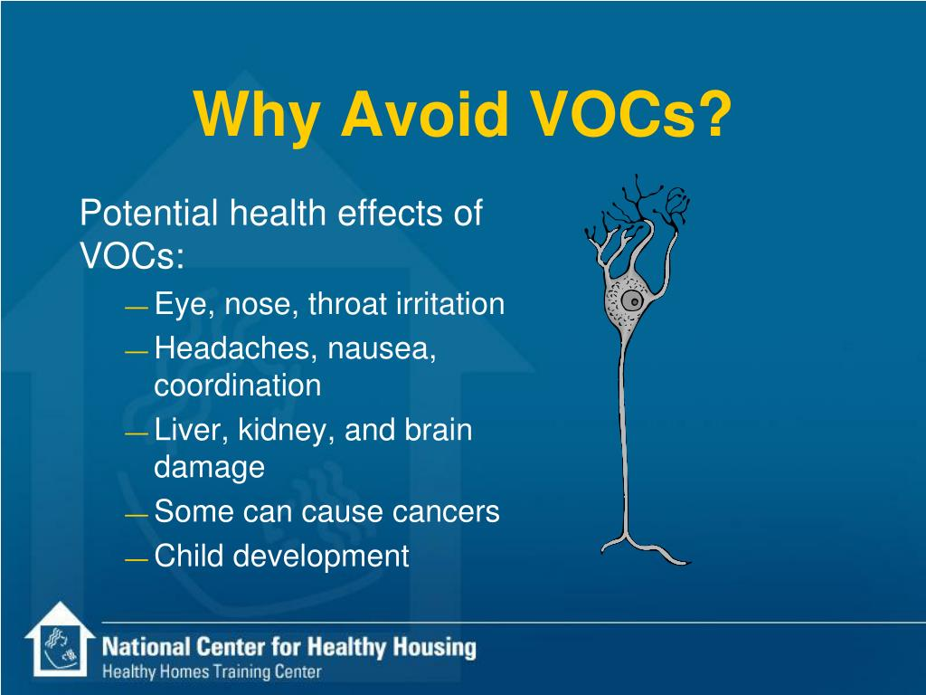 Why Avoid VOCs?