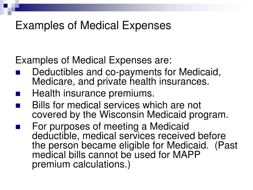 Examples of Medical Expenses