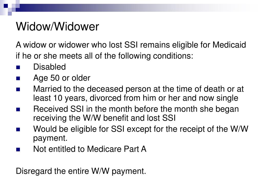Widow/Widower