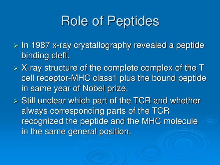 Role of Peptides
