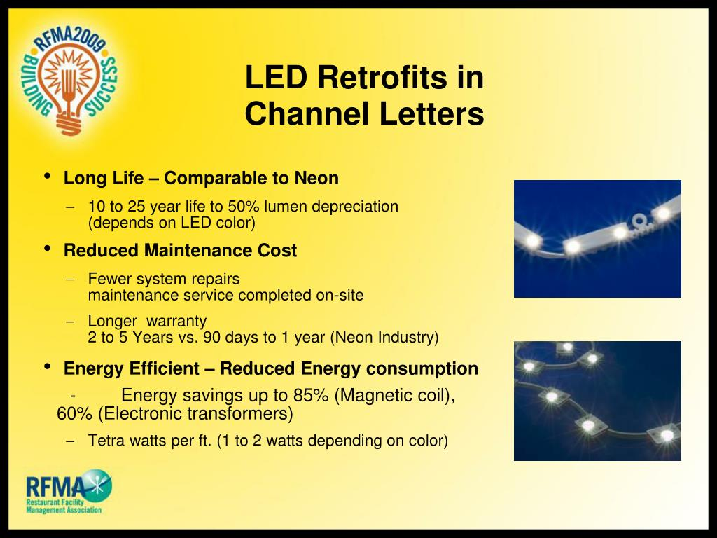 LED Retrofits in Channel Letters