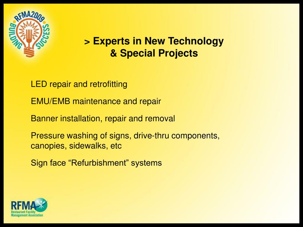 > Experts in New Technology & Special Projects