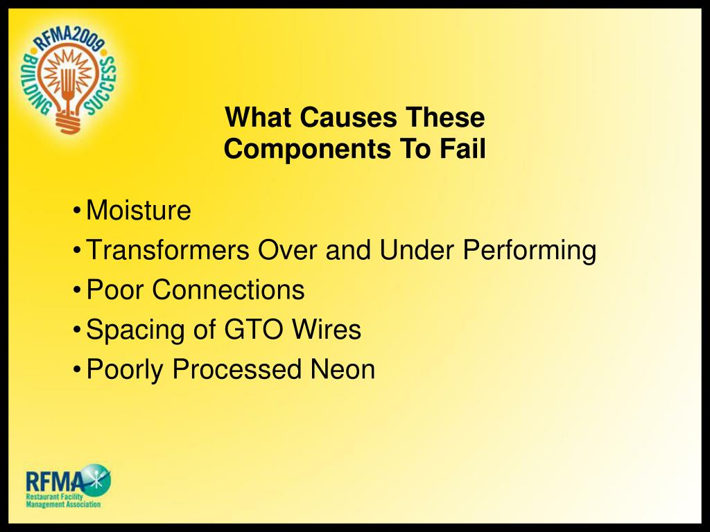 What Causes These Components To Fail