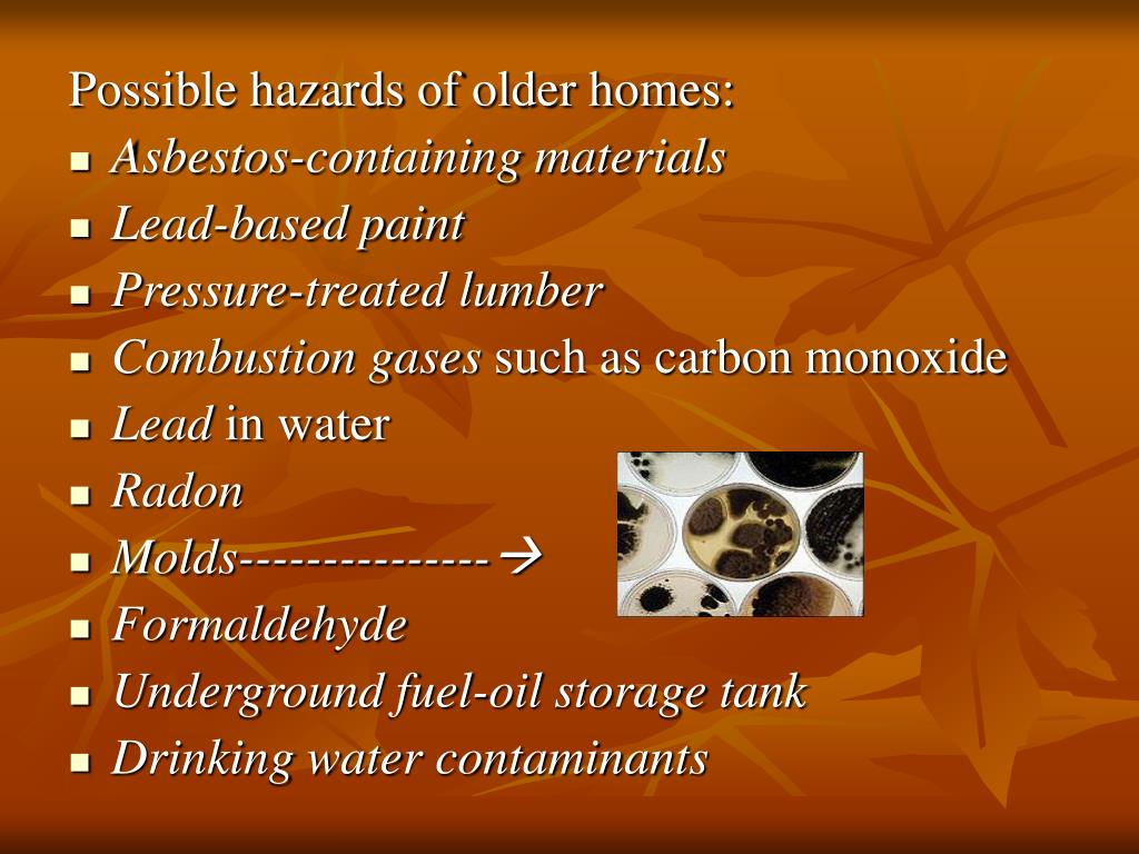 Possible hazards of older homes: