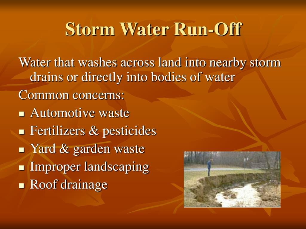 Storm Water Run-Off