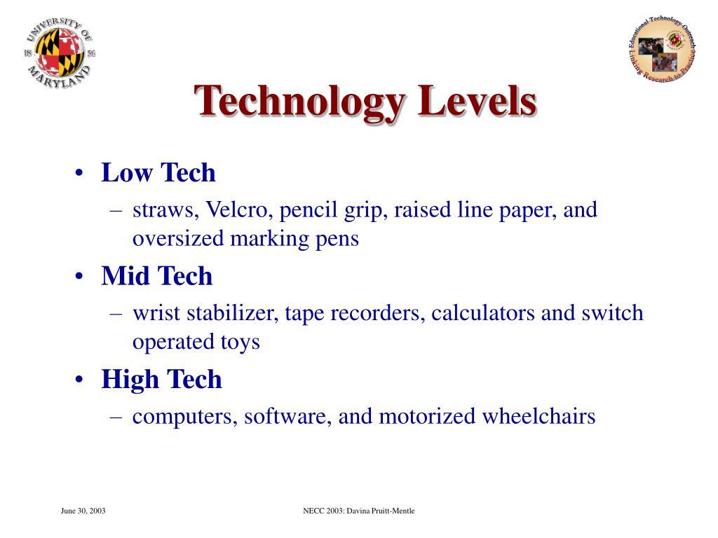 Technology Levels