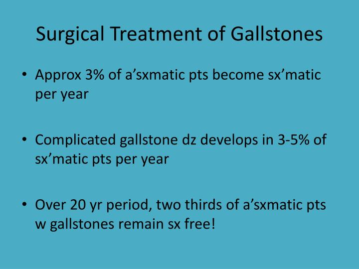 Surgical Treatment of Gallstones