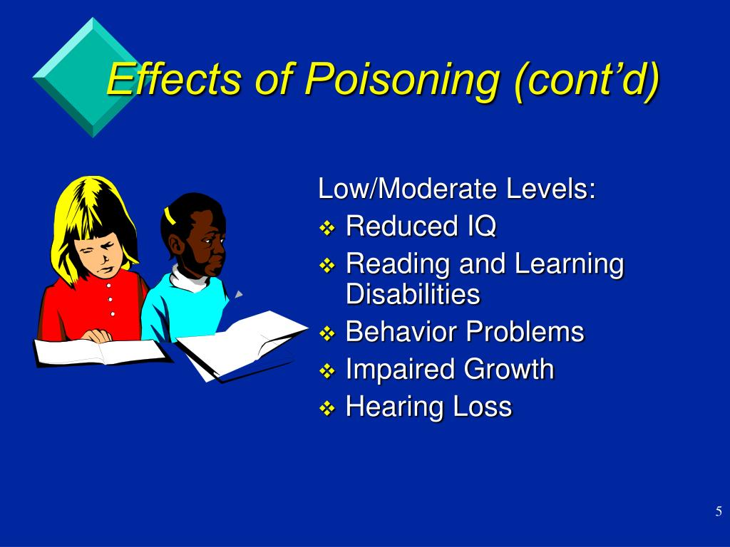 Effects of Poisoning (cont'd)