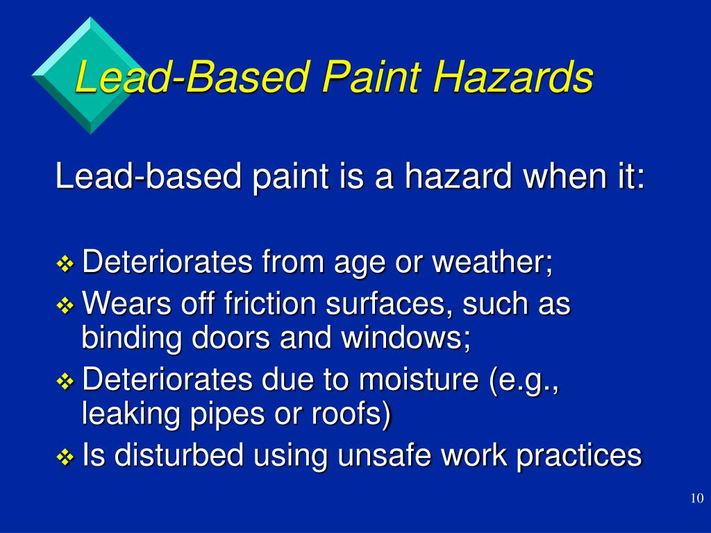 Lead-Based Paint Hazards