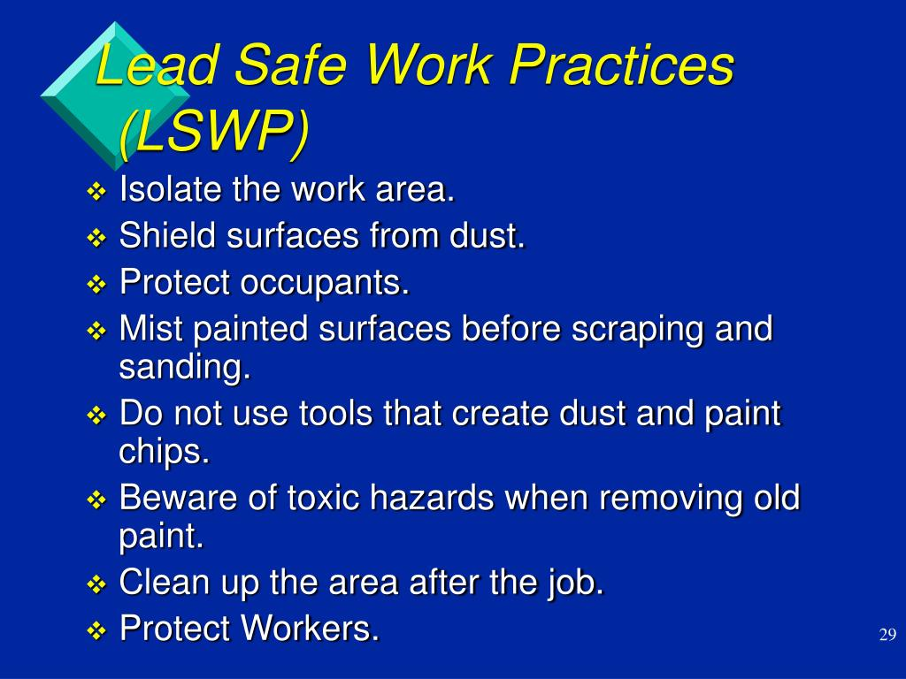 Lead Safe Work Practices (LSWP)
