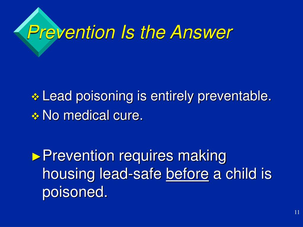 Prevention Is the Answer