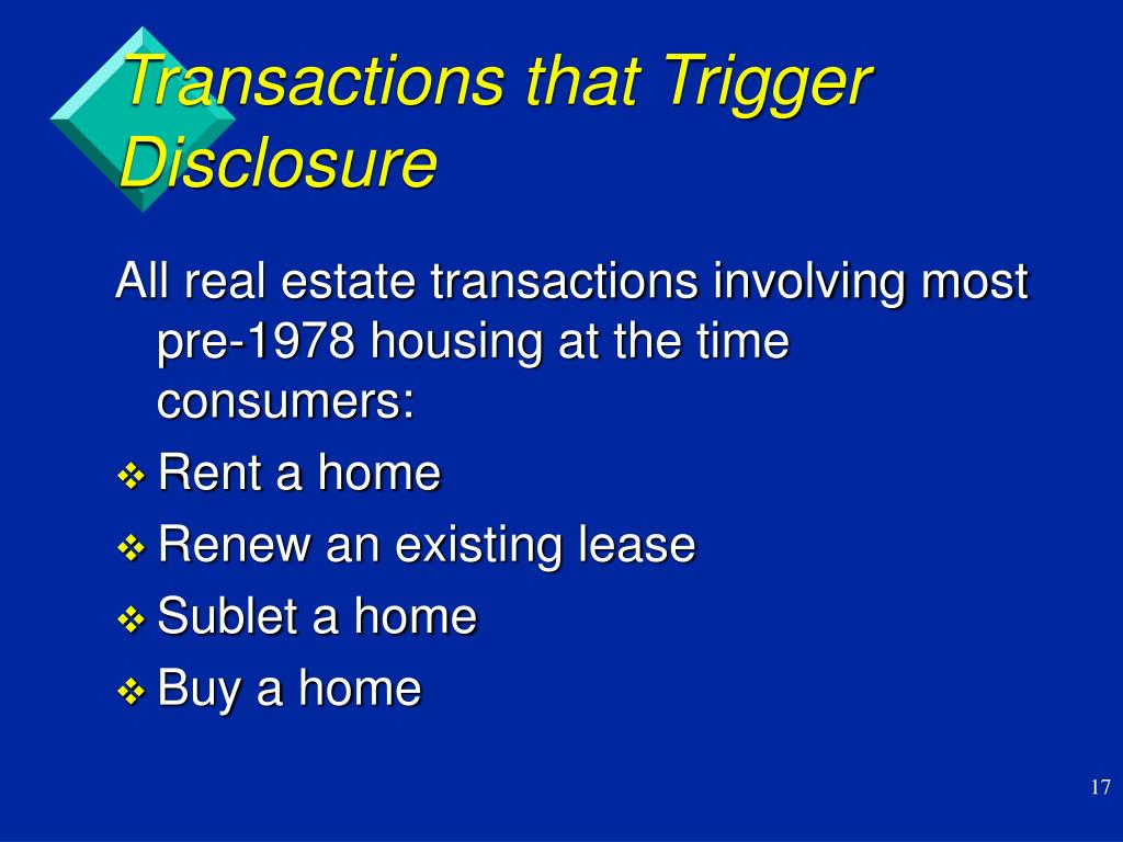 Transactions that Trigger Disclosure