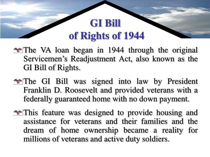 Gi bill of rights of 1944
