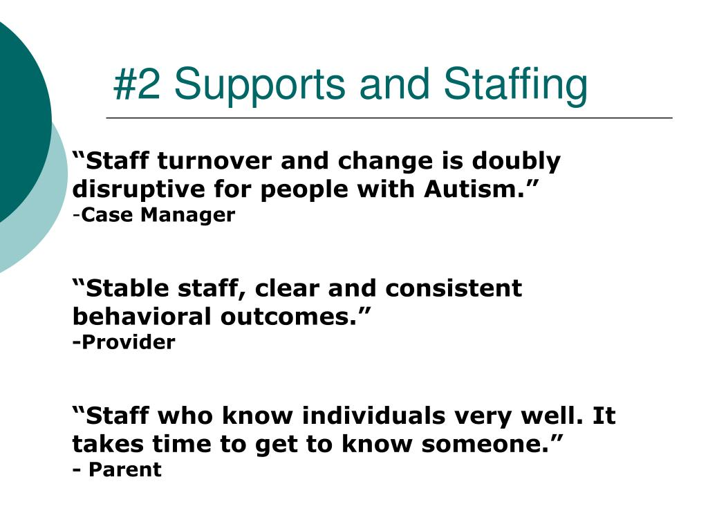 #2 Supports and Staffing
