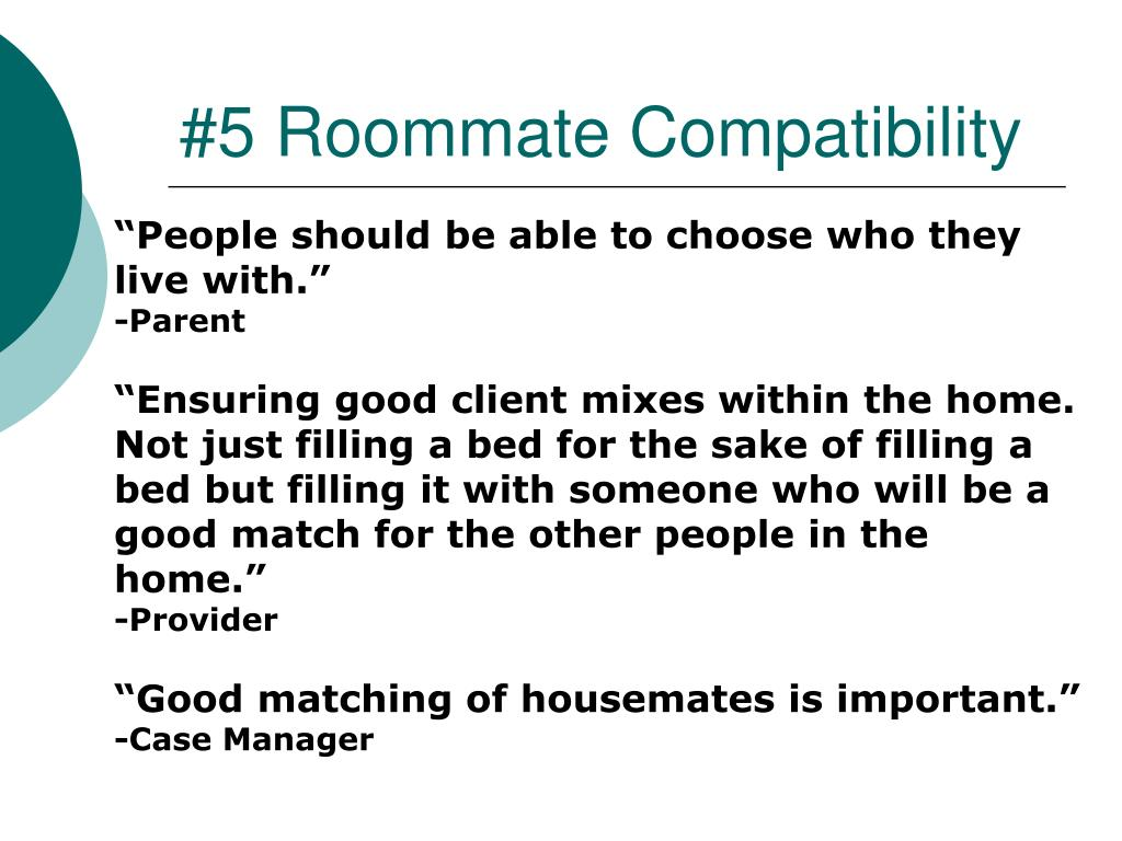 #5 Roommate Compatibility