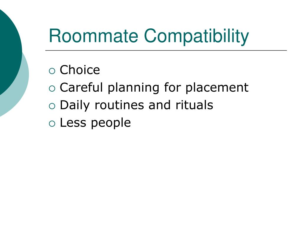 Roommate Compatibility