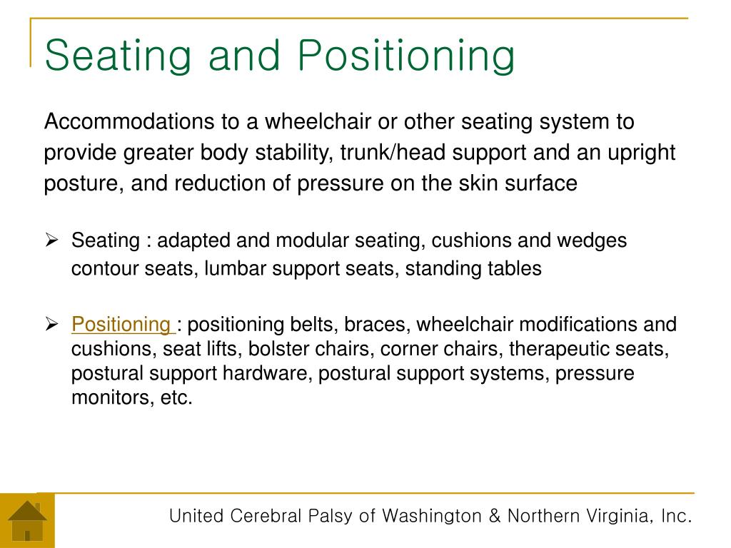 Seating and Positioning