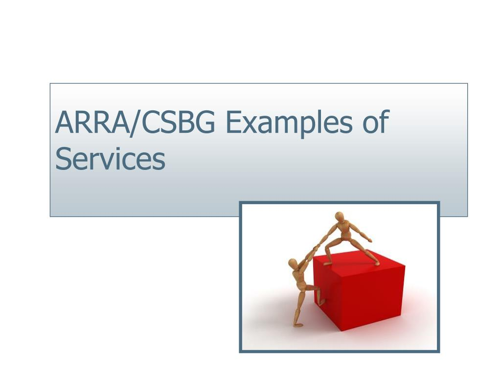 ARRA/CSBG Examples of Services