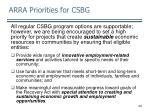arra priorities for csbg