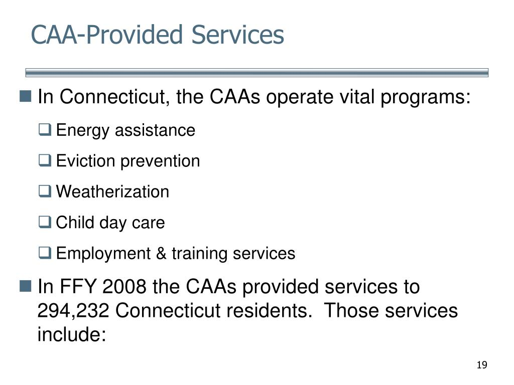 CAA-Provided Services