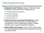caa provided services20