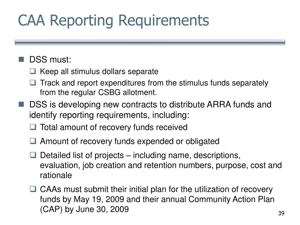 CAA Reporting Requirements