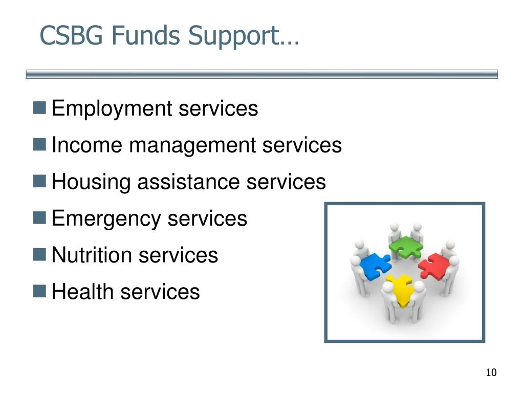 CSBG Funds Support…
