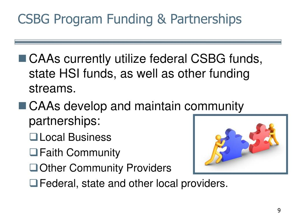 CSBG Program Funding & Partnerships