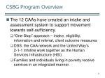 csbg program overview