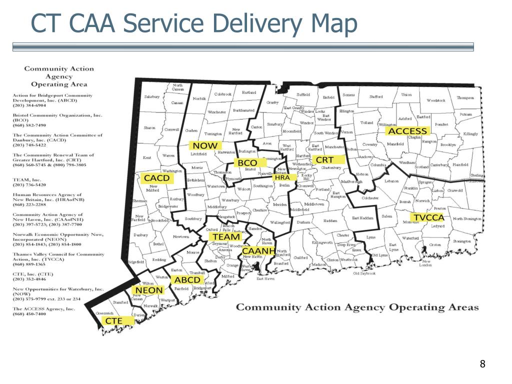 CT CAA Service Delivery Map
