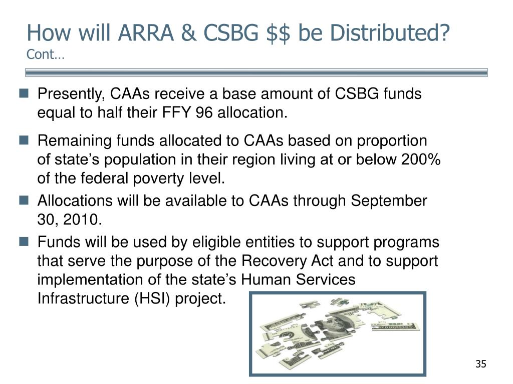 How will ARRA & CSBG $$ be Distributed?