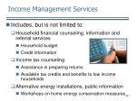 income management services