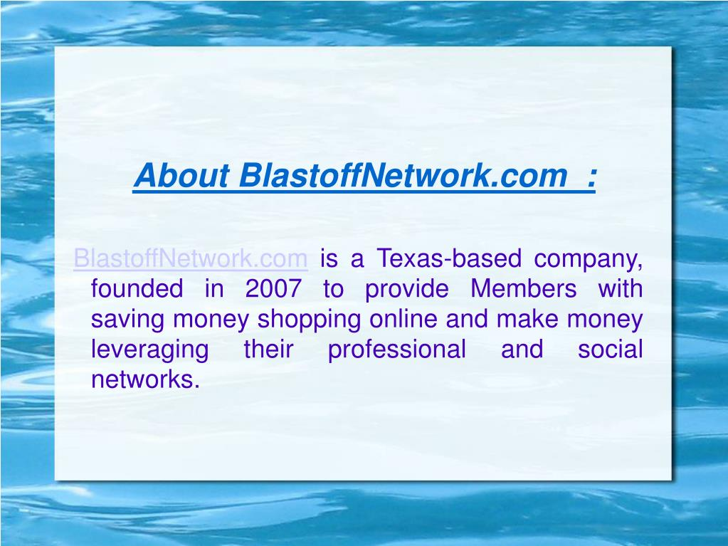 About BlastoffNetwork.com  :