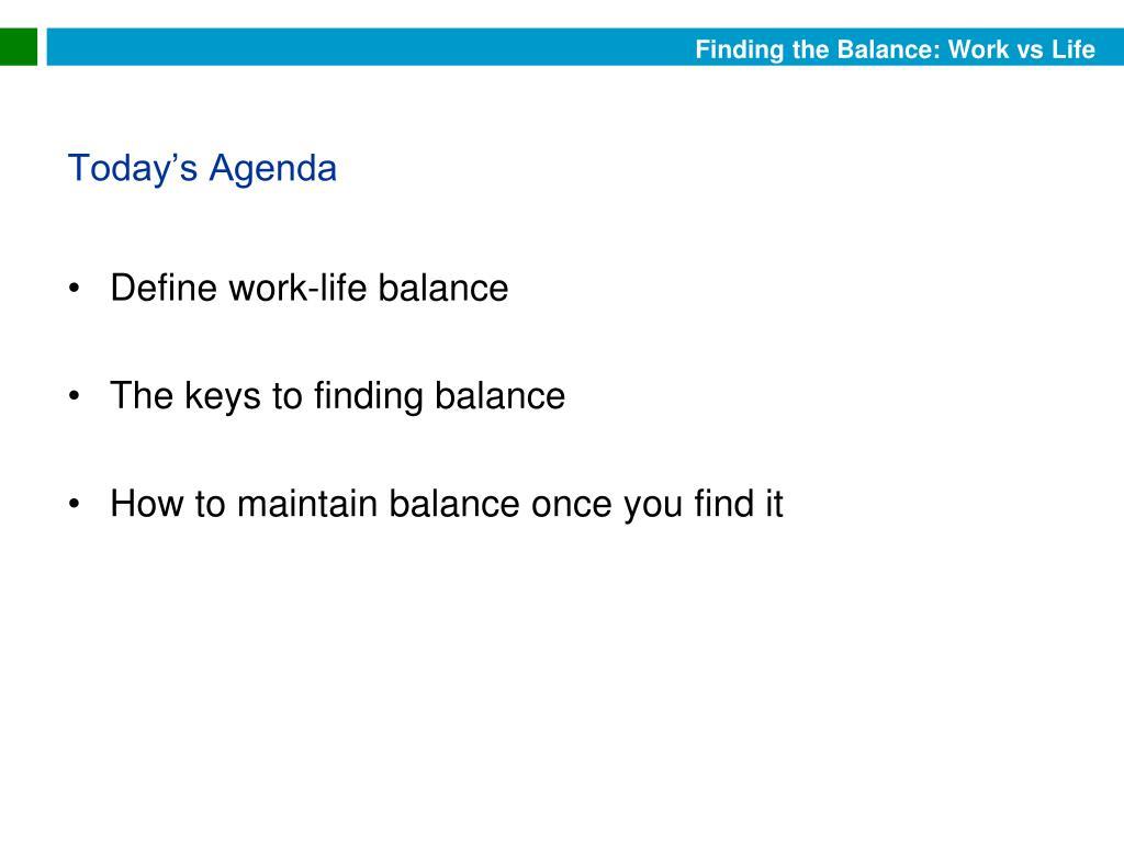 Define work-life balance