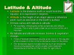 latitude altitude