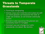 threats to temperate grasslands