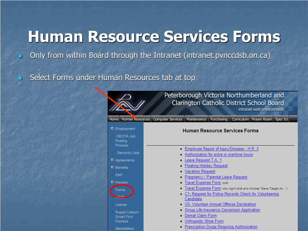 Human Resource Services Forms
