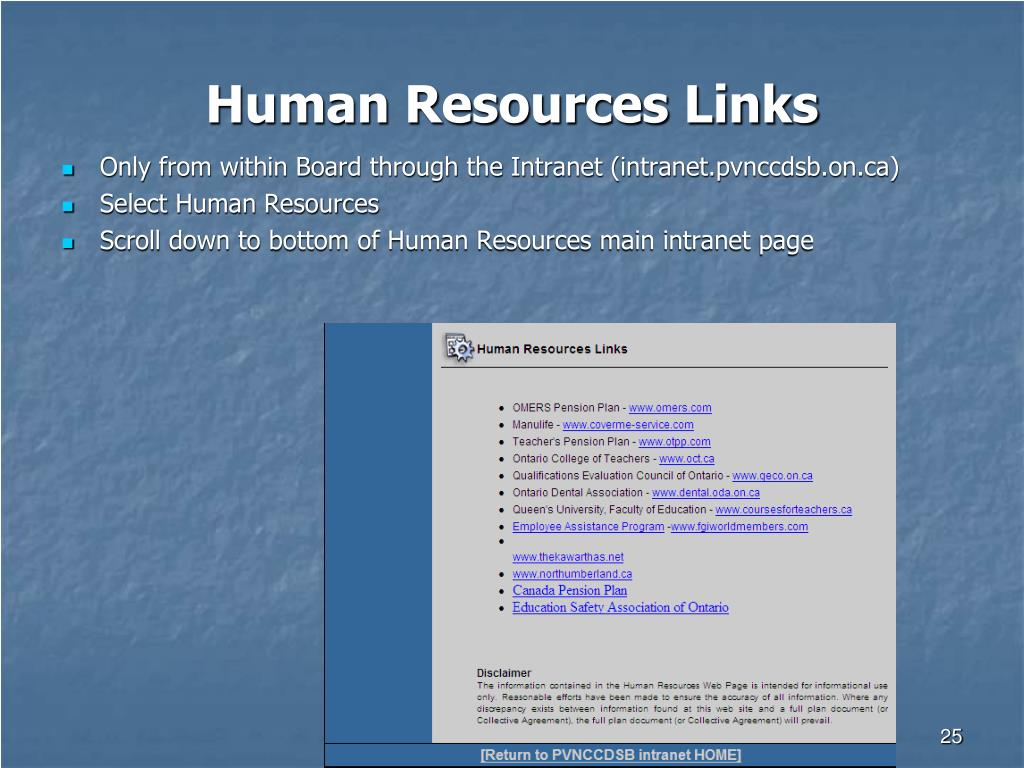 Human Resources Links