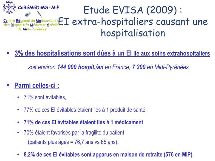 Etude EVISA (2009) :