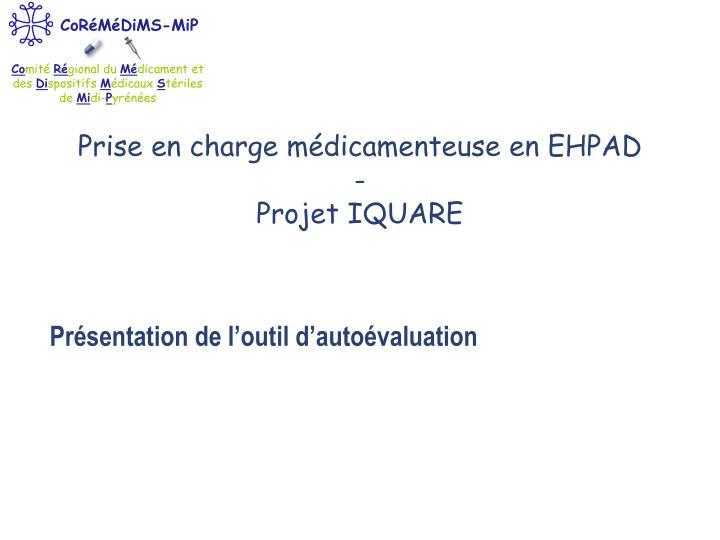 Prise en charge médicamenteuse en EHPAD