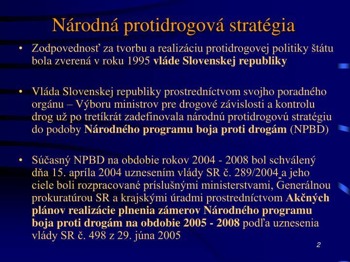 Národná protidrogová stratégia