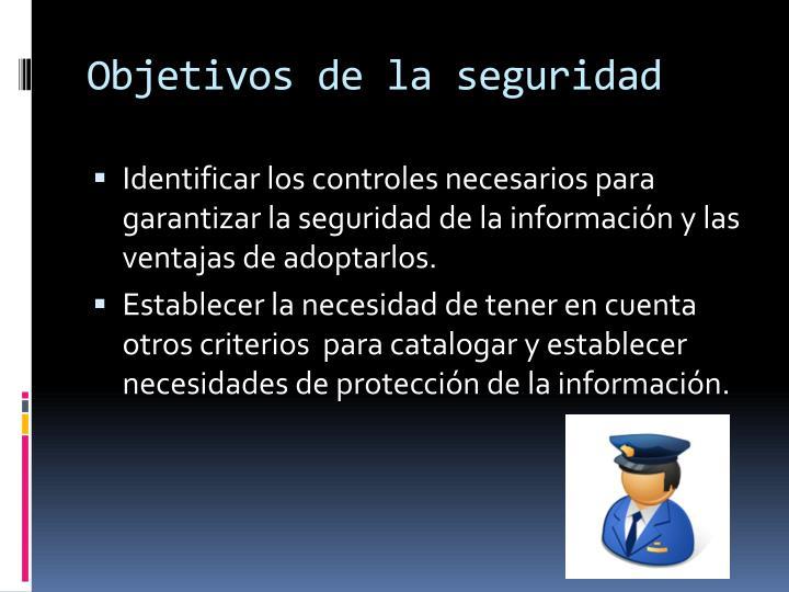 Objetivos de la seguridad