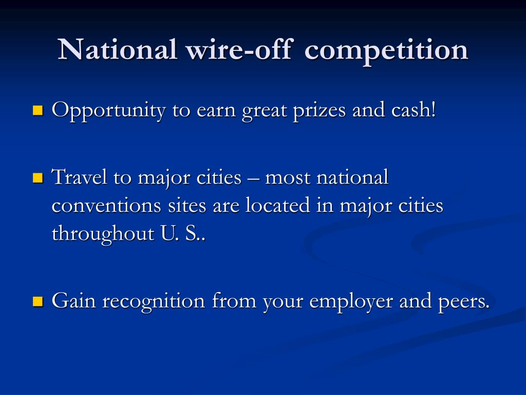 National wire-off competition