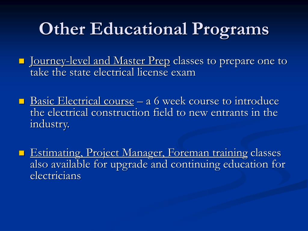Other Educational Programs