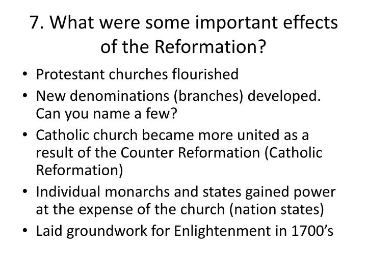 impact of the reformation Free essay: the effects of the reformation on european life european society was divided from the word go, people all around europe were dominantly catholic.