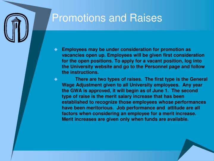 Promotions and Raises