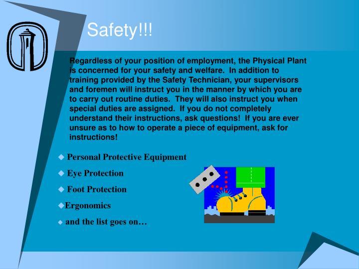 Safety!!!