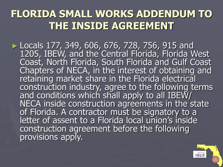 Florida small works addendum to the inside agreement l.jpg